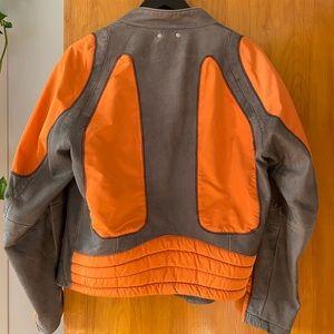 Orange and Grey Hugo Boss Bomber Jacket